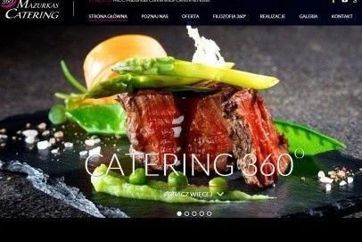 Nowa strona internetowa Mazurkas Catering 360°