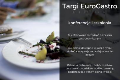 Sukces w gastronomii - szkolenia i konferencje podczas Targów EuroGastro