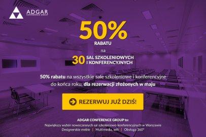 Adgar Conference Group przygotował dla swoich klientów wiosenną promocję na sale konferencyjne
