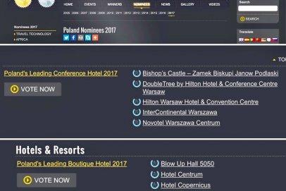 Nominacje do międzynarodowej nagrody World Travel Award - Hotel Tobaco & Zamek Biskupi Janów Podlaski