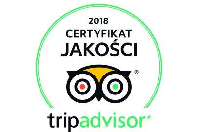 Hotel Afrodyta Business & Spa zdobył Certyfikat Jakości Roku 2018 Strony TripAdvisor!