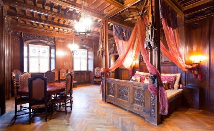 zdjęcie pokoju, Zamek Czocha, Leśna