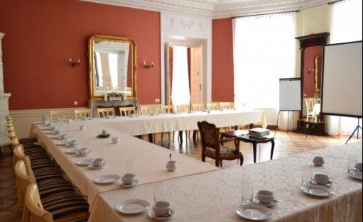 zdjęcie sali konferencyjnej, Pałac w Racocie Ośrodek Szkoleniowo-Rekreacyjny, Kościan