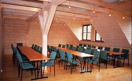 zdjęcie sali konferencyjnej, Zagroda Kuwasy, Rajgród