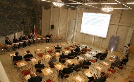 zdjęcie sali konferencyjnej, Kopalnia Soli Wieliczka, Wieliczka