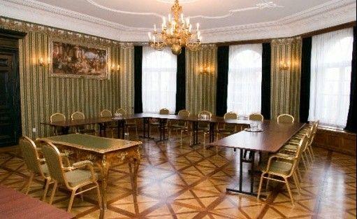 zdjęcie sali konferencyjnej, Pałac Gębice, Pępowo