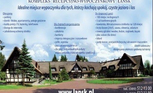 zdjęcie obiektu, Centrum Obsługi KPRM Kompleks Recepcyjno-Wypoczynkowy Łańsk, Stawiguda
