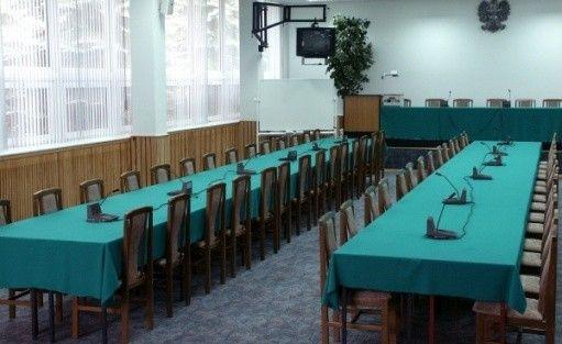 zdjęcie sali konferencyjnej, Centrum Edukacji Statystycznej GUS, Jachranka k. Warszawy