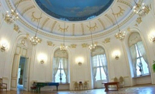 zdjęcie sali konferencyjnej, Dom Zjazdów i Konferencji Polskiej Akademii Nauk, Jabłonna