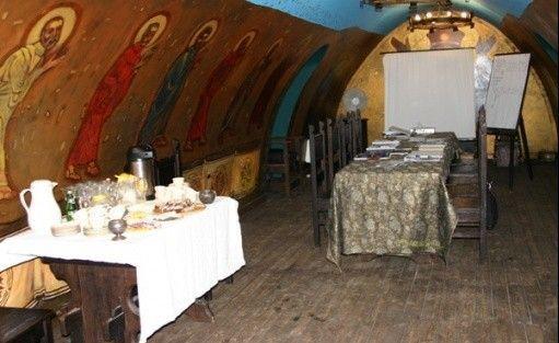 zdjęcie sali konferencyjnej, Kiermusy Dworek nad Łąkami, Tykocin