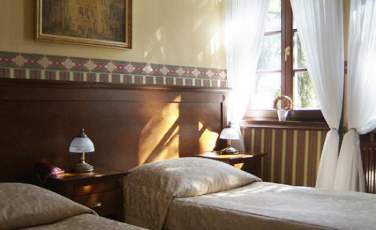 zdjęcie pokoju, Pałac Myśliwski Książąt Radziwiłłów w Antoninie, Przygodzice