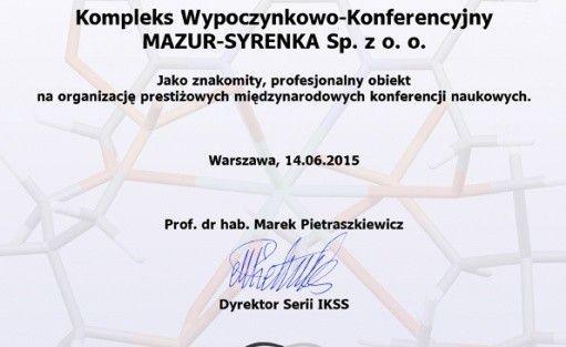 Inne Kompleks Wypoczynkowo- Konferencyjny Mazur-Syrenka Sp. zo. o / 3