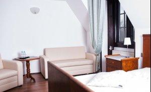 Pokój typu Comofort w butikowym hotelu Pałacu Krobielowice w pobliżu Wrocławia