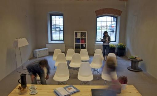 zdjęcie sali konferencyjnej, K6 - Kotulińskiego 6 - Przestrzeń Kreatywna, Czechowice-Dziedzice