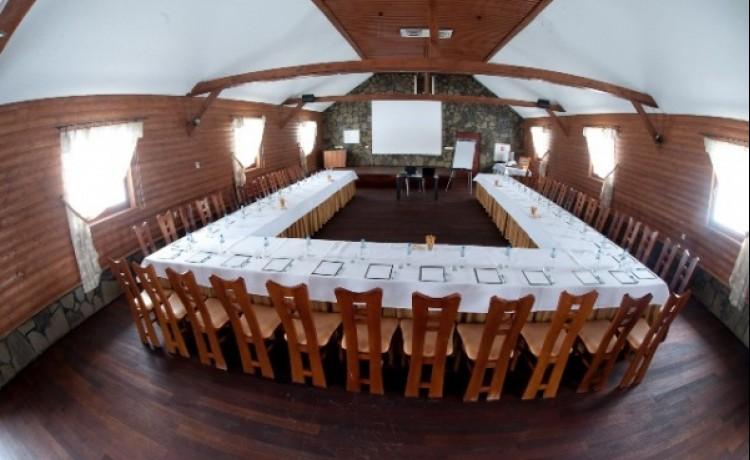 zdjęcie sali konferencyjnej, Centrum Aktywnego Wypoczynku Borek, Rzezawa
