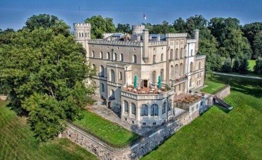 zdjęcie obiektu, Ośrodek Integracji Europejskiej w Rokosowie - Zamek w Rokosowie, Łęka Mała