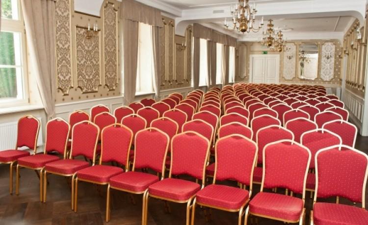 zdjęcie sali konferencyjnej, Dwór Sieraków, Dobczyce