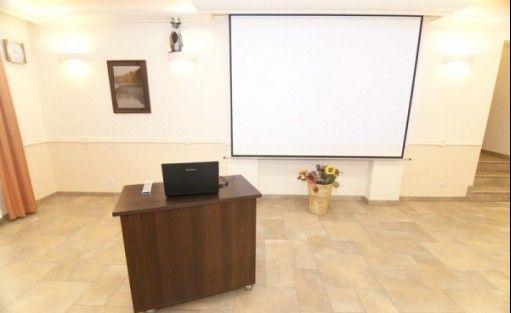 zdjęcie sali konferencyjnej, Ośrodek Szkoleniowo-Wypoczynkowy ZAWIATY, Czarna Dąbrówka