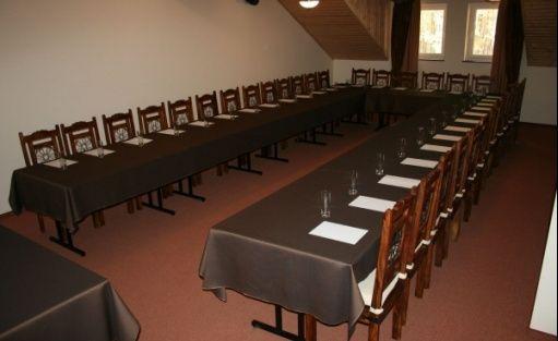 zdjęcie sali konferencyjnej, Ośrodek Konferencyjno Wypoczynkowy Młynczysko, Poświętne