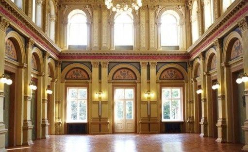 zdjęcie sali konferencyjnej, Pomorska 21. Dom Towarzystwa Kredytowego, Łódź