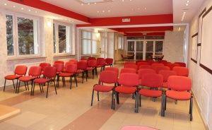 zdjęcie sali konferencyjnej, Politechnika Warszawska Ośrodek Szkoleniowo-Wypoczynkowy w Grybowie, Grybów
