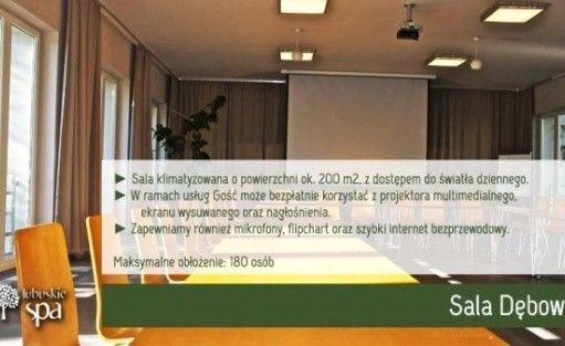 zdjęcie sali konferencyjnej, Hotel Lubuskie SPA, Łagów