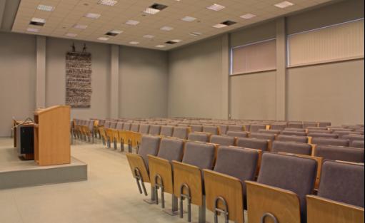 zdjęcie sali konferencyjnej, Collegium Da Vinci, Poznań